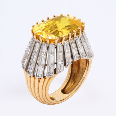 Cartier, '1950s Yellow Sapphire and Diamond Ring by Cartier Paris', ca. 1950