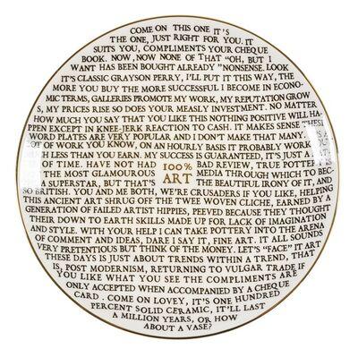 Grayson Perry, '100% Art Plate', 2020