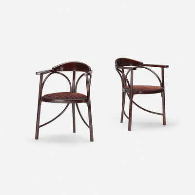 Thonet, 'Three-Legged chairs model no. 81, pair', c. 1900