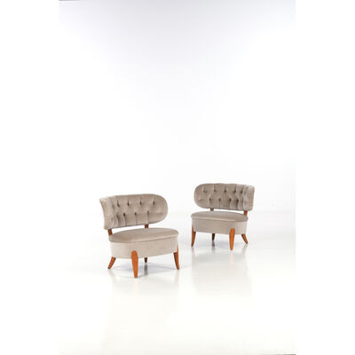 Otto Schultz, 'Pair of fireside chairs', near 1940