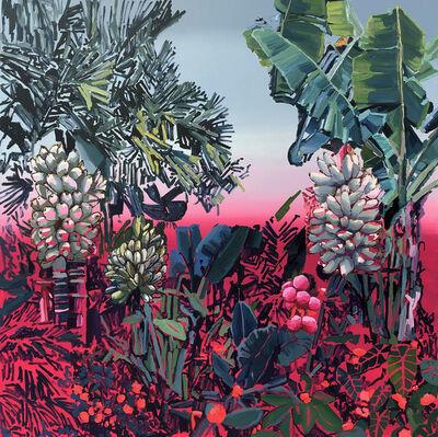 Alejandra Atares, 'Dark fuchsia garden', 2019