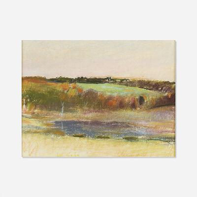 Wolf Kahn, 'Evening Pond', 1974