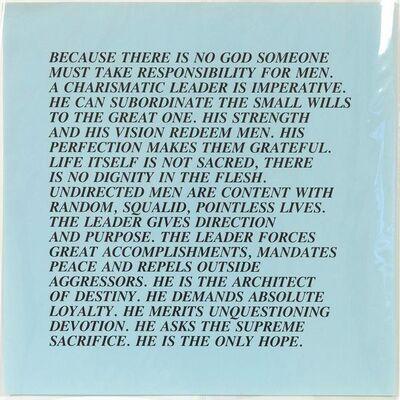 Jenny Holzer, 'Charismatic Leader - Inflammatory Essay', 1982