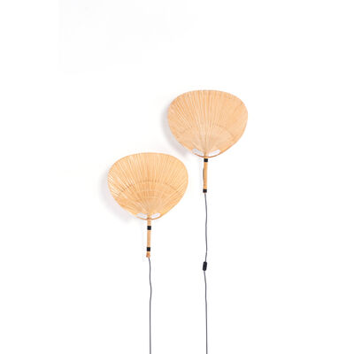 Ingo Maurer, 'Modèle Uchiwa III - Pair of wall lamps', 1973
