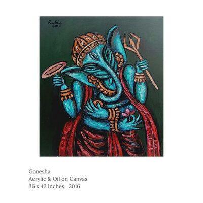 "Rabin Mondal, 'Ganesha, Acrylic on Canvas by Modern Artist ""In Stock""', 2016"
