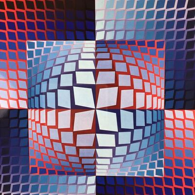 Victor Vasarely, 'QUASAR-ZETT', 1972