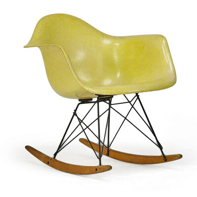 Charles Eames, 'Early Molded Plastic Rocker (Rar), Zeeland, MI', 1950s