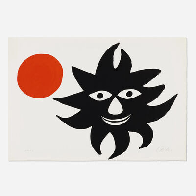 Alexander Calder, 'Lune rouge et soleil noir (Red Moon and Black Sun)', 1970