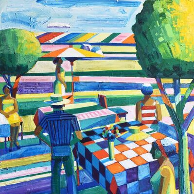 Roland Petersen, 'Yellow Bonnet on a Picnic Table', 2010
