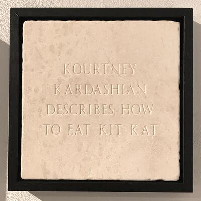 Sarah Maple, 'Kourtney Kardashian Describes How To Eat Kit Kat', 2017