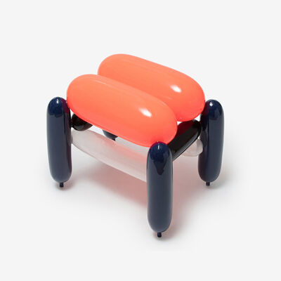 Seungjin Yang, 'ORANGE DARK BLUE BLOWING STOOL 2', 2019