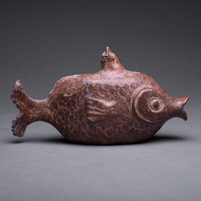 Mayan, 'Mayan Whistle In The Form Of A Fish', 500 AD to 900 AD