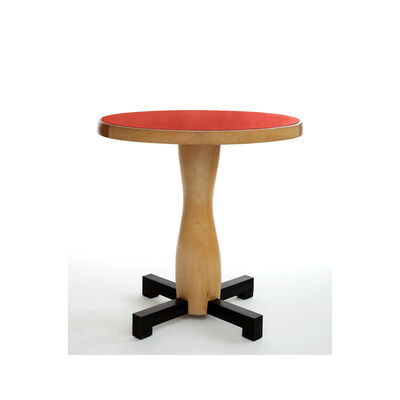 Jacques Jarrige, 'Red lacquer and Sycamore TABLE by Jacques Jarrige', 2006