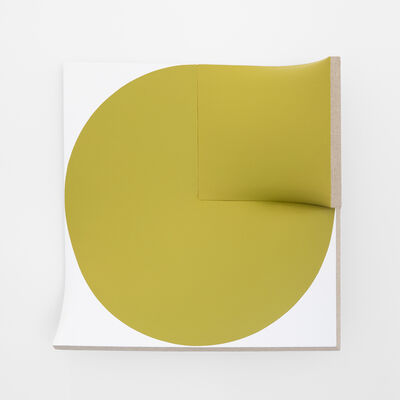Jan Maarten Voskuil, 'Improved Flat Out Pointless Cut-Out Yellow-Green', 2015-2019