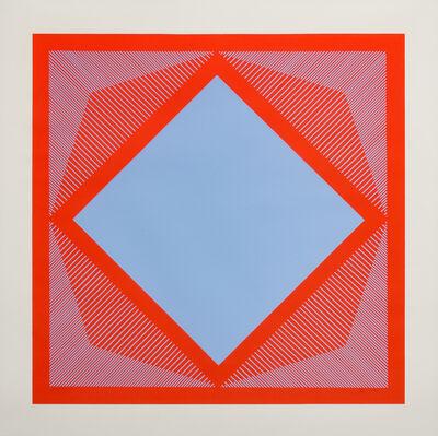 Richard Anuszkiewicz, 'Optic Red and Blue', 1965