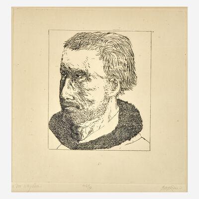 Leonard Baskin, 'Van der Weyden; Jusepe de Ribera  from Portraits of Ten Artists  (2)'