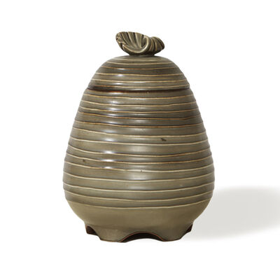 Ebbe Sadolin, 'Jar with lid featuring shell finial', 1920s