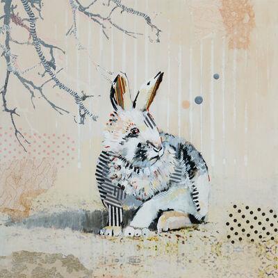Samantha Walrod, 'Waiting Rabbit - Dots and Stripes', 2020