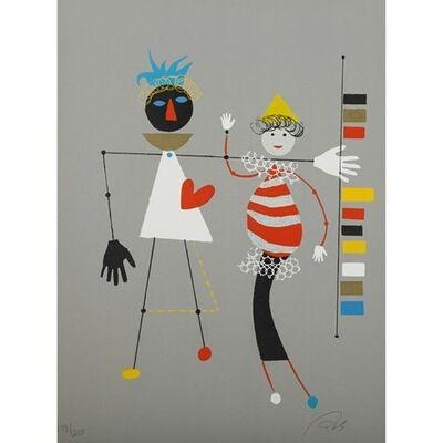 Wolfgang Roth, 'Rare Wolfgang Roth Dada Bauhaus Circus Silkscreen', 20th Century