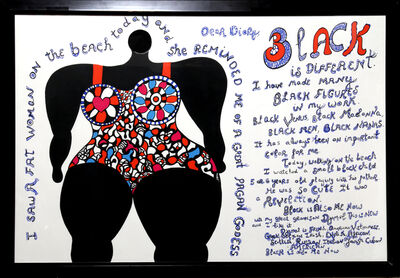 Niki de Saint Phalle, 'Dear Diary (Black is Different) from Californian Diary', 1994