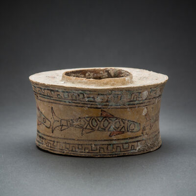Unknown Asian, 'Painted Terracotta Vessel with Fish Motif', 3000 BCE-2000 BCE