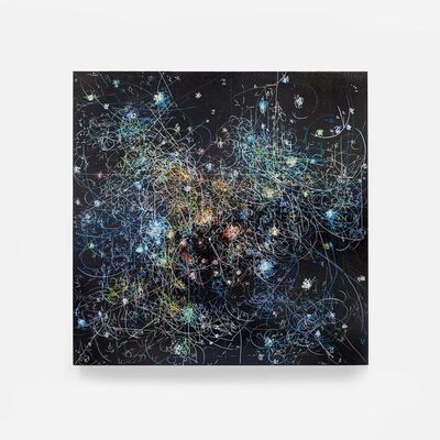 Kysa Johnson, 'blow up 304 - the long goodbye - subatomic decay patterns and the dark clouds of NGC 2024', 2016