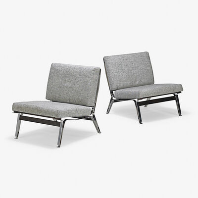 Ico Parisi, 'Pair of lounge chairs (no. 856), Italy', 1950s