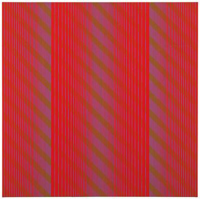 Julian Stanczak, 'Red Trilogy', 1969