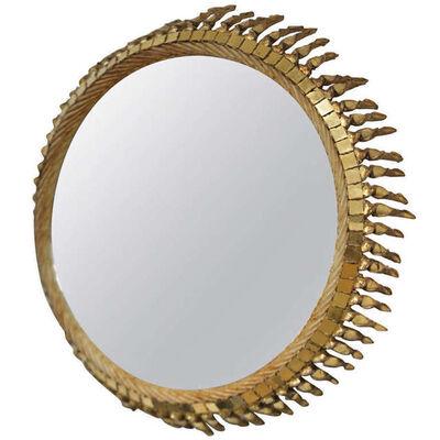 Line Vautrin, 'Grand soleil torsade mirror', ca. 1958