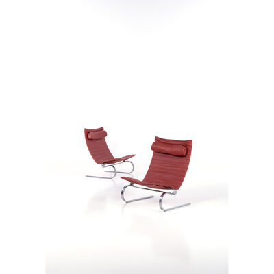 Poul Kjærholm, 'PK 20 model pair of chairs'