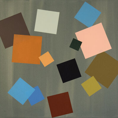 Milly Ristvedt, 'Seafoam Grid Play - large, earth tones, geometric abstraction, acrylic on canvas', 2016