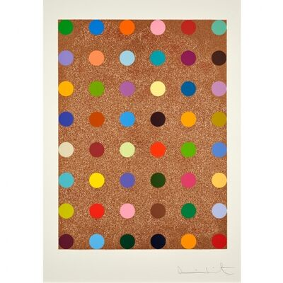 Damien Hirst, 'Spots with Rose Gold Glitter'