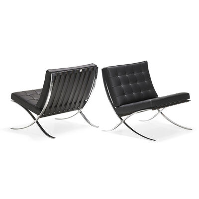 Ludwig Mies van der Rohe, 'Pair of Barcelona chairs, USA', 2000s