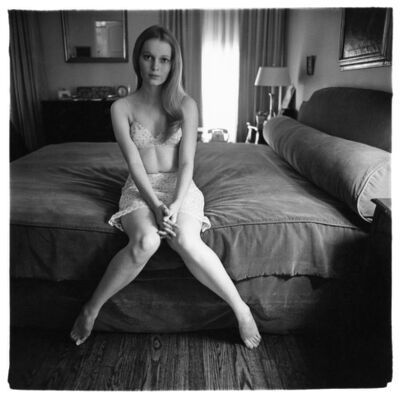 Diane Arbus, 'Mia Villiers-Farrow on a bed', 1964