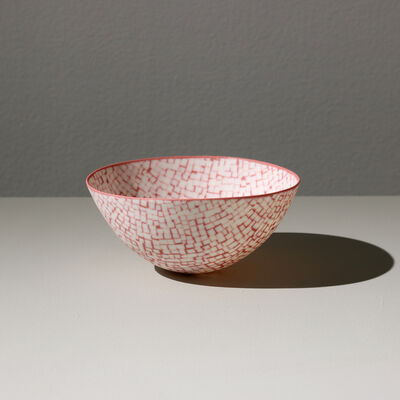 Mieke Everaet, 'ROUND PORCELAIN BOWL, RED AND WHIT', 2019