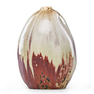 Pierre Adrien Dalpayrat, 'Oxblood And Celadon Gourd Vase, France', 1890s