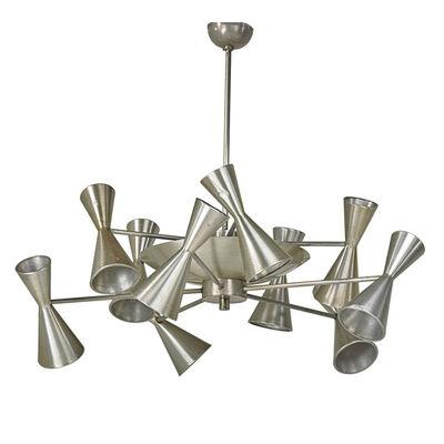 American Industrial, 'Large ten-arm chandelier', 1940s
