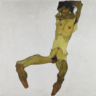 Egon Schiele, 'Seated Male Nude (Self-Portrait)', 1910