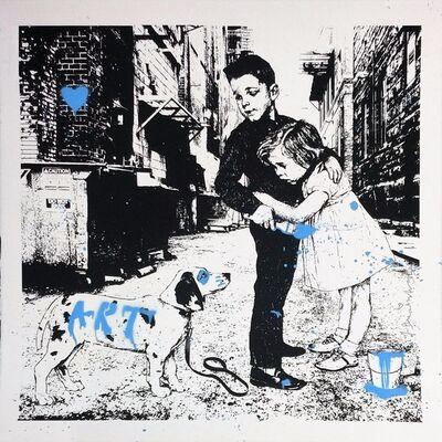 Mr. Brainwash, 'PUP ART (BLUE)', 2012