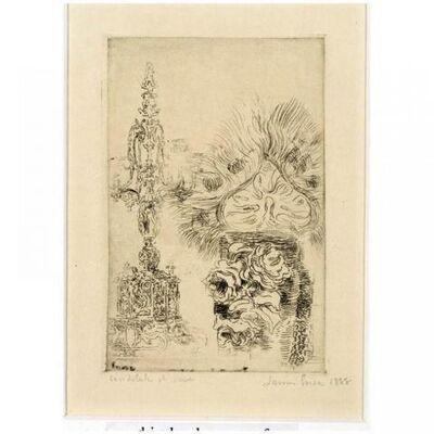 James Ensor, 'Candélabre and Vase (', 1888