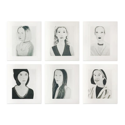 Alex Katz, 'Six Female Portraits', 2004