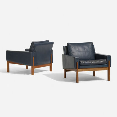 Scandinavian, 'Lounge chairs, pair', c. 1960