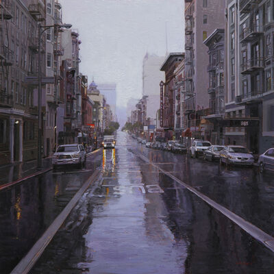Greg Gandy, 'Morning Rain on Geary Street', 2014