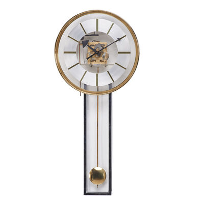 George Nelson, 'Wall-hanging clock with pendulum and chime'