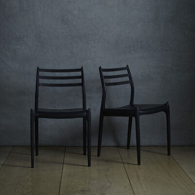 Niels Otto Møller, 'dining chairs, pair'