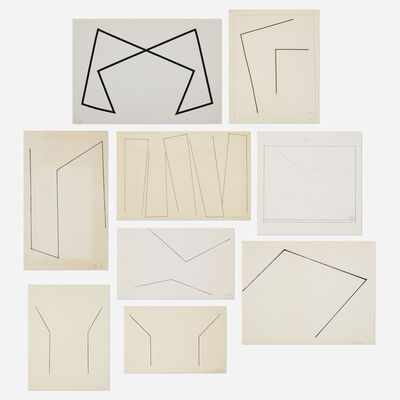 Leon Polk Smith, 'Untitled (nine works)', 1980-1995