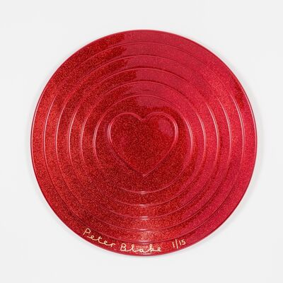 Peter Blake, 'Red Target (metal flake)', 2017