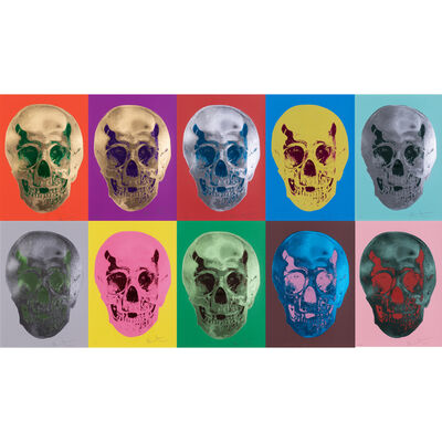 Damien Hirst, 'Till Death Do Us Part - The complete suit of 10 screeprint', 2012