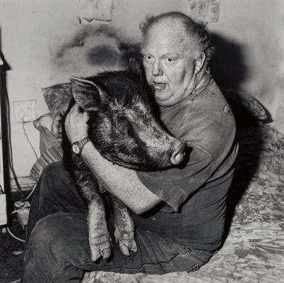 Roger Ballen, 'Brian with Pet Pig'