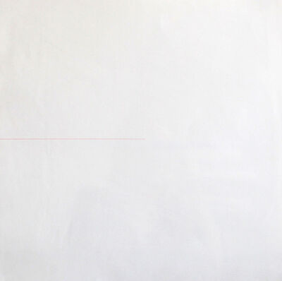 Sol LeWitt, 'A Red Line of Random Length, Drawn From the Left Side of the Page', 1974